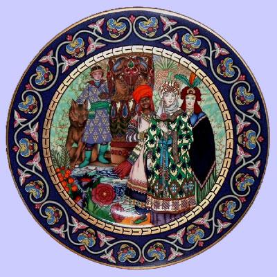 The wedding of tsarevna elena the fair - boris zvorykin - russian