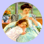 Mother's Day - Young Mother Sewing - Mary Cassatt