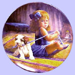 Ballerina's Dilemma - Gregory Perillo Plate  - The Little Professionals