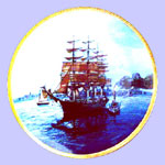 America's Greatest Sailing Ships  Plate - Tom Freeman