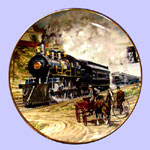 Classic American Train Plate - Jim Deneen