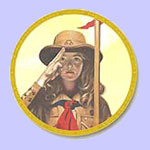 A Girl Scout  -  Norman Rockwell Plate