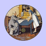 Norman Rockwell Mother's Day Plates
