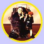 The Doctor and The Doll  -  Norman Rockwell Plate