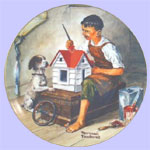 Norman Rockwell - A Dollhouse For Sis