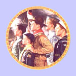Forward America  -  Norman Rockwell Plate