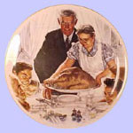 Freedom From Want  -  Norman Rockwell Plate