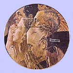 Freedom of Worship  -  Norman Rockwell Plate