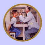 New Glasses  -  Norman Rockwell Plate