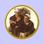 Reminiscing  -  Norman Rockwell Plate