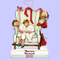 New Norman Rockwell 2010 Christmas Ornament