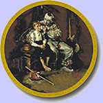 The Runaway and The Clown  -  Norman Rockwell Plate