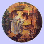 Somebody's Up There  -  Norman Rockwell Plate