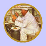 The Chef  -  Norman Rockwell Plate