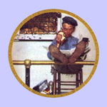 The Zookeeper  -  Norman Rockwell Plate