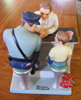 TThe Runaway - Policeman and Boy - Danbury Mint  Figurine By Norman Rockwell
