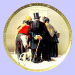 The Stock Exchange  -  Norman Rockwell Plate