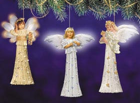 Heavenly Dreams Angel Ornament  by Sandra Kuck