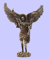 Saint Uriel The Archangel Fused Bronze Figurine