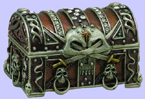 Pirate's Chest Jewel Box