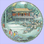 Scenes From The Summer Palace - Zhang Song Mao - Imperial Ching-te Chen