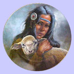 Lily of the Mohawks - Indian  Princess Series - Gregory Perillo Plate