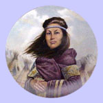 Sacajawea - Indian  Pricesses Series - Gregory Perillo Plate