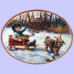 Winter Wonderland -  Sandra Kuck Christmas Plates - Magic of Friendship