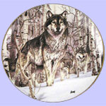 Year of The Wolf Mini Plate Set - Al Agnew