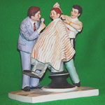 The First Haircut - Norman Rockwell Figurine - Dave Grossman