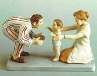 Baby's First Step Figurine - Norman Rockwell - Dave Grossman Designs