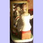 Girl At The Mirror - Day Dreaming - Norman Rockwell Figurine