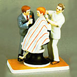 The Haircut Figurine - Norman Rockwell - Dave Grossman Designs