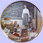 The School Teacher - America  At Work - Norman Rockwell - Rivershore