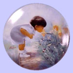 Easter Morning Miniature Plate - Donald Zolan