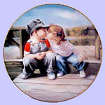 First Kiss -  Donald Zolan - Childhood Discoveries Mini Plate