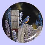 Back To Nature Blue Bird - Susan Bourdet