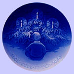 Bing & Grondahl  Jubilee Plate - Happiness Over The Christmas Tree