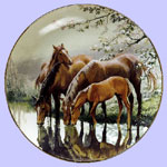 Taste of Spring - Mother and  baby  - Horse and foul
