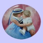 Mother's Angels - Donald Zolan Mother's Day Plate