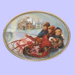 Winter Wonderland -  Sandra Kuck Christmas Plates - Magic Sleigh Ride