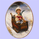 Winter Wonderland -  Sandra Kuck Christmas Plates - Ride into Christmas