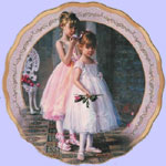 Rose Duet - Dances of Joy - Sandra Kuck Collectors Ballet Plates