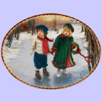 Winter Wonderland -  Sandra Kuck Christmas Plates - Wonders of Winter