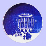 Jack  Woodson 1987 Christmas At The  White House - Bing & Grondahl Christmas In America