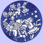 London Bridge Is Falling Down - Royal Copenhagen Children's Christmas Plate - Ingrid Jensen