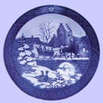 The Sleigh Ride - Royal Copenhagen Christmas Plate - Sven Vestergaard