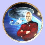 Captain Picard & Enterprise 1701D   Plate- Keith Birdsong
