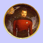 Commander William Riker  Plate - Keith Birdsong