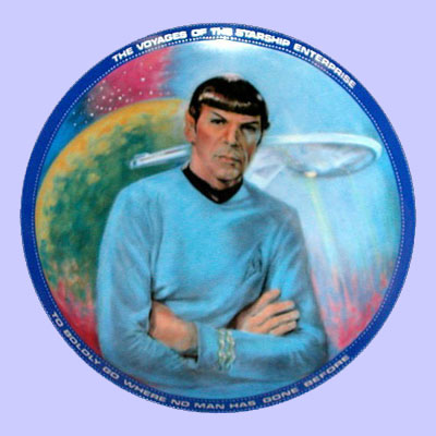 Mister Spock Plate - Susie Morton  sc 1 st  The Plate Lady & Star Trek u0026 Star Wars Art Collectible Plate: Picture Gallery of ...